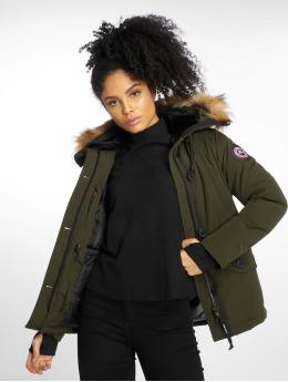 Helvetica Winter Jacket Ontario Raccoon Edition khaki