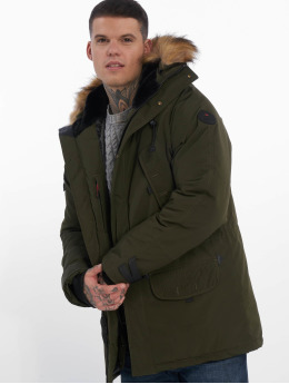 Helvetica Winterjacke Expedition Raccoon Edition  khaki