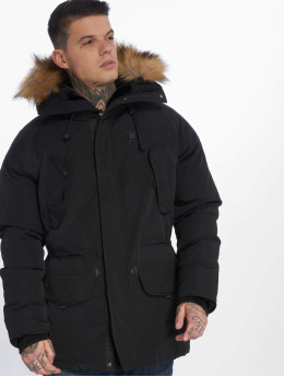 Helvetica Winterjacke Expedition Ewarm Raccoon schwarz