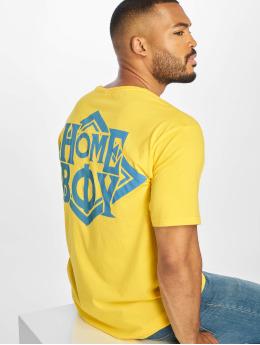 Homeboy T-skjorter The Bigger Homie Nappo Logo gul