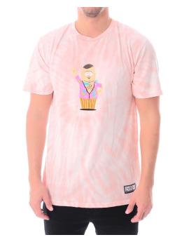 HUF Camiseta Sp Big Gay Ale Tie Dye Ss fucsia