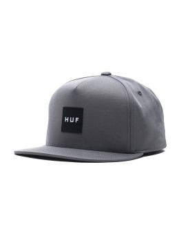 HUF Fitted Cap Box Logo grau
