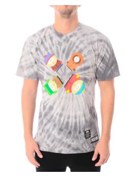 HUF T-Shirt Southpark Trippy Tie Dye gris