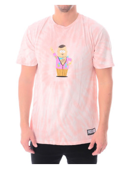 HUF T-Shirt Sp Big Gay Ale Tie Dye Ss pink