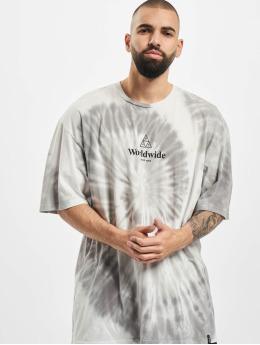 HUF T-Shirt Worldwide Triple Triangle Tie Dye weiß