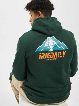 Iriedaily Hoody Stay Yeti grün