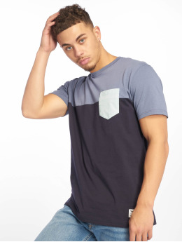 Iriedaily T-Shirt Block Pocket blau