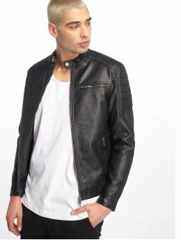 Jack & Jones Кожаная куртка jcoRocky  черный