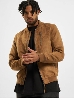 Jack & Jones Куртка-бомбардир jjFlake Bomber коричневый