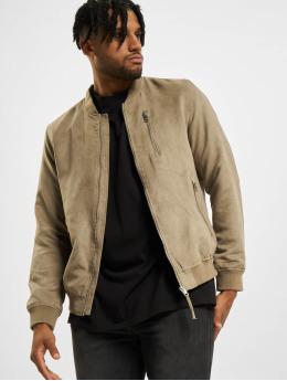 Jack & Jones Куртка-бомбардир jjFlake коричневый