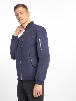 Jack & Jones Куртка-бомбардир jjeDesert синий