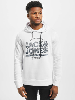 Jack & Jones Bluzy z kapturem jcoFund  bialy