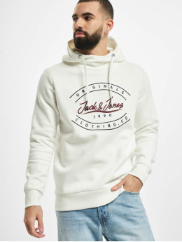 Jack & Jones Bluzy z kapturem jorStationary  bialy