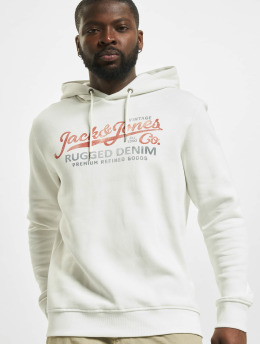 Jack & Jones Bluzy z kapturem jprBlustar Sweat bialy