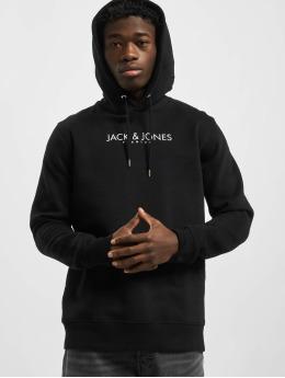 Jack & Jones Bluzy z kapturem jprBlagabriel Print czarny