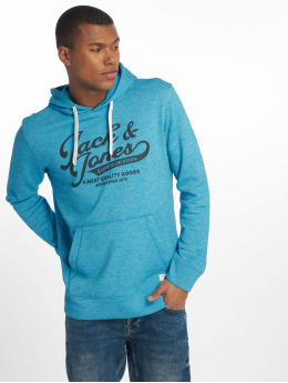 Jack & Jones Bluzy z kapturem jjePanther Sweat niebieski