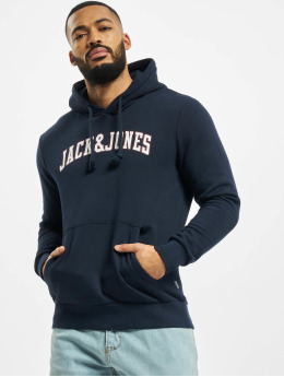 Jack & Jones Bluzy z kapturem jjCrossing  niebieski