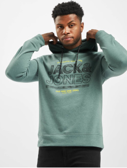 Jack & Jones Bluzy z kapturem jcoFund  turkusowy