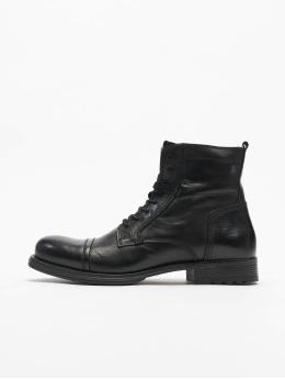 Jack & Jones Boots fwRussel Leather Warm gris