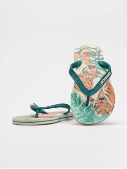 Jack & Jones Claquettes & Sandales jfwAnimal Print Pack turquoise