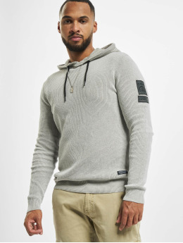 Jack & Jones Hoodie jcoBadge Knit vit