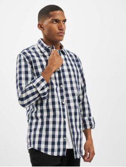 Jack & Jones Košele jjePlain Check Noos modrá