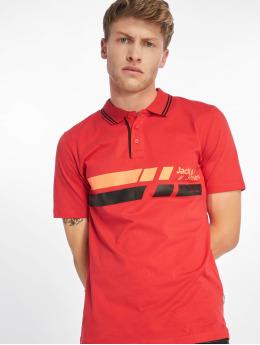 Jack & Jones Koszulki Polo jcoTrue czerwony
