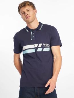 Jack & Jones Koszulki Polo jcoTrue niebieski