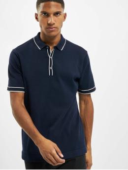 Jack & Jones Koszulki Polo jprBlatime Knit niebieski