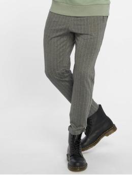 Jack & Jones Látkové kalhoty jjiVega jjTrash WW Pinstripe šedá