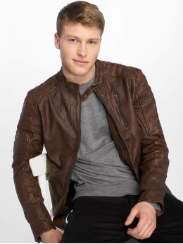 Jack & Jones Leather Jacket jprRichard brown