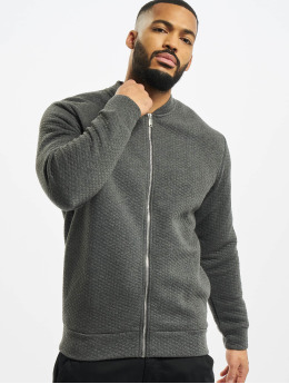 Jack & Jones Lightweight Jacket jjStructure Sweat Zip Baseball  grey