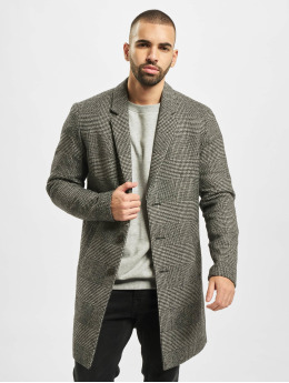 Jack & Jones Manteau jprMoulder Check Wool  gris