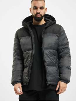 Jack & Jones Puffer Jacket jjDrew Hooded grau
