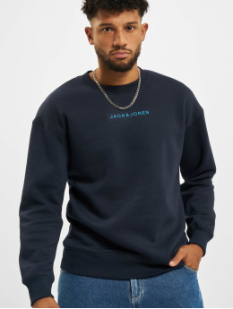 Jack & Jones Pullover Jcomarco Crew Neck blue