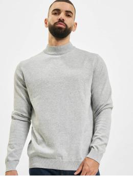 Jack & Jones Pullover jprBlacamp Knit High Neck grau