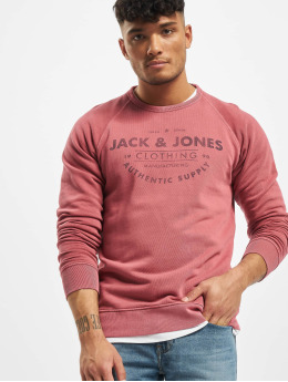 Jack & Jones Pullover jjeJeans Washed Noos rot