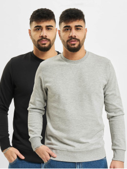 Jack & Jones Pullover Jjebasic Crew Neck 2 Pack  schwarz