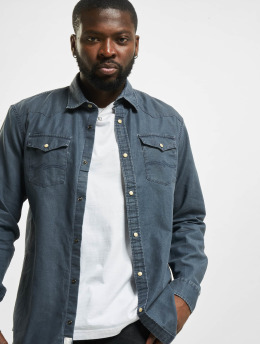 Jack & Jones Shirt jprBlusummer Coated Western blue