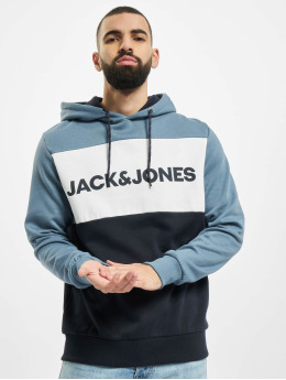 Jack & Jones Sweat capuche jjeLogo Blocking bleu