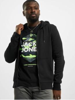 Jack & Jones Sweat capuche zippé jjeBasic Noos noir