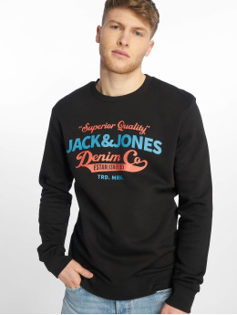 Jack & Jones Swetry jjeLogo czarny