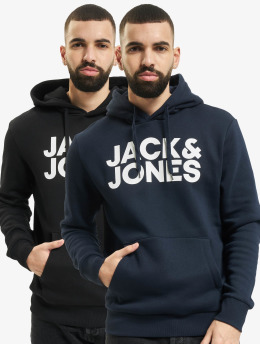 Jack & Jones Swetry Jjecorp Logo 2-Pack czarny
