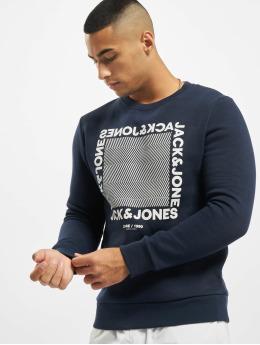 Jack & Jones Swetry jcoLarsen  niebieski