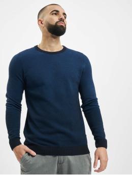 Jack & Jones Swetry jcoFaro Knit niebieski