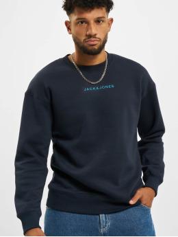Jack & Jones Swetry Jcomarco Crew Neck niebieski