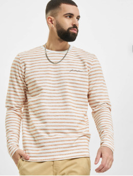 Jack & Jones Swetry jjStripe pomaranczowy