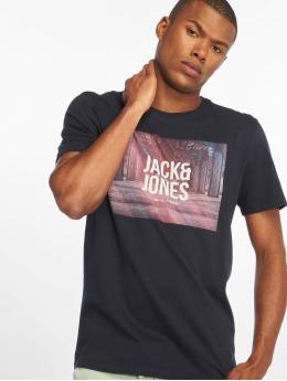 Jack & Jones T-paidat jcoSpring-Feel sininen