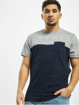 Jack & Jones T-Shirt jjeMix Crew Neck blue