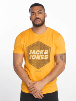 Jack & Jones t-shirt jcoDustin geel